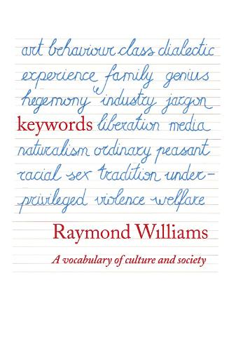 Keywords: A Vocabulary of Culture and Society (Paperback)