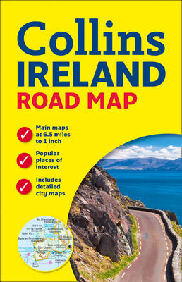 Ireland Road Map (Sheet map, flat)