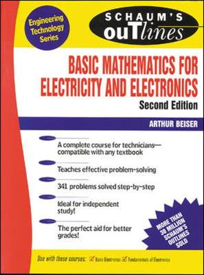 Schaum's Outline of Basic Mathematics for Electricity and Electronics - Schaum's Outline Series (Paperback)