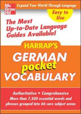 Harrap's Pocket German Vocabulary - Harrap's Language Guides (Paperback)