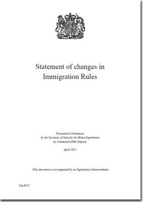Statement of Changes in Immigration Rules - Cm. 8337 (Paperback)