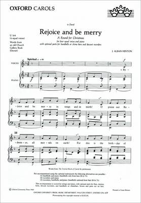 Rejoice and be Merry: Vocal Score (Sheet music)