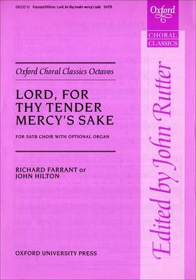 Lord, for Thy Tender Mercy's Sake: Vocal Score - Oxford Choral Classics Octavos (Sheet music)