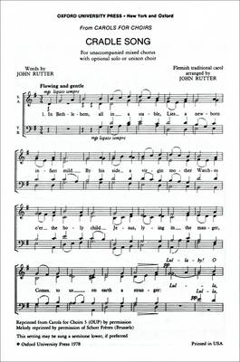 Cradle Song: Vocal Score (Sheet music)