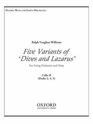 "Five Variants on ""Dives and Lazarus"": Cello 2 (Sheet music)"