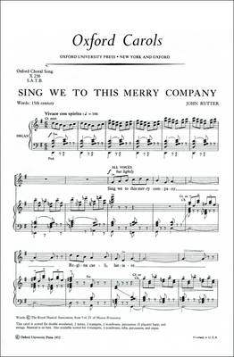 Sing We to This Merry Company: Vocal Score (Sheet music)