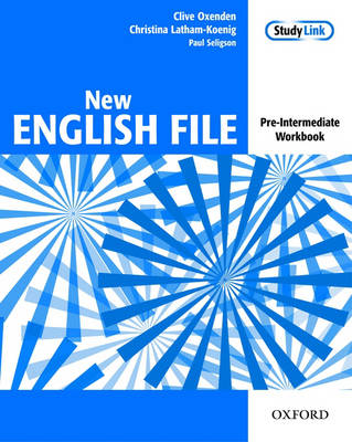 New English File: Workbook Pre-intermediate level: Six-Level General English Course for Adults (Paperback)