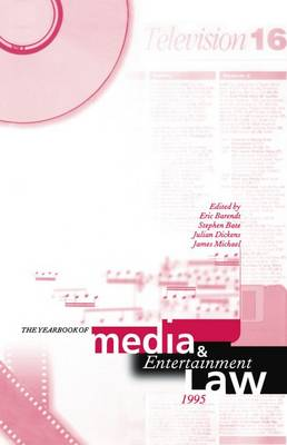 The Yearbook of Media and Entertainment Law: 1995 Volume 1 (Hardback)
