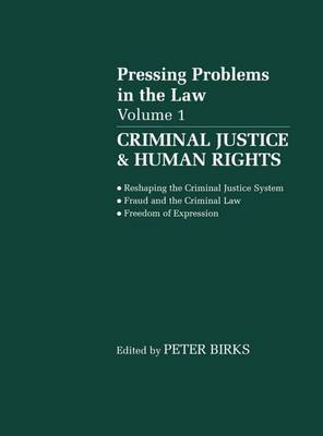 Criminal Justice & Human Rights: Volume 1: Pressing Problems in the Law (Paperback)