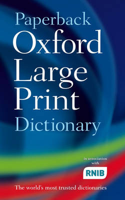 Paperback Oxford Large Print Dictionary (Paperback)