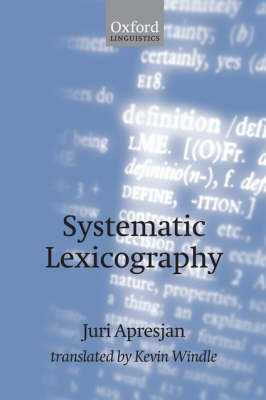 Systematic Lexicography (Paperback)