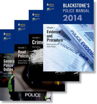 Blackstone's Police Manuals 2014 - Blackstone's Police Manuals (Multiple copy pack)