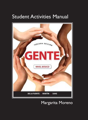 Student Activities Manual for Gente: Nivel Basico (Paperback)