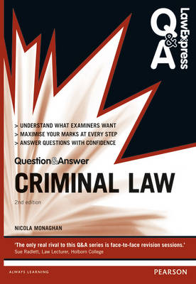 Criminal Law (Q&A Revision Guide) - Law Express Questions & Answers (Paperback)