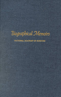 Biographical Memoirs - Biographical Memoirs: A Series 78 (Hardback)