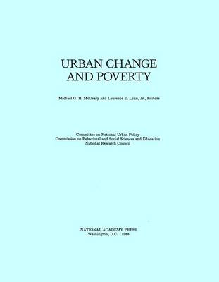 Urban Change and Poverty (Paperback)