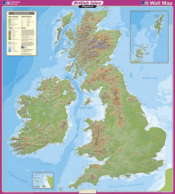 British Isles Physical - OS Wall Map Sheet 4 (Sheet map)