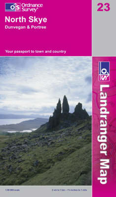 North Skye, Dunvegan and Portree - OS Landranger Map Sheet 23 (Sheet map, folded)
