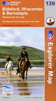 Bideford, Ilfracombe and Barnstaple - OS Explorer Map Sheet 139 (Sheet map, folded)
