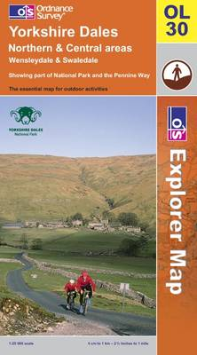 Yorkshire Dales: Northern and Central Areas - OS Explorer Map Sheet OL30 (Sheet map, folded)