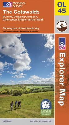 The Cotswolds - OS Explorer Map Sheet OL45 (Sheet map, folded)