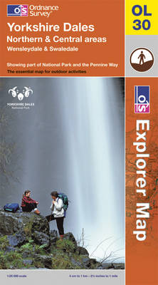 Yorkshire Dales - Northern & Central Areas - OS Explorer Map OL30 (Sheet map, folded)