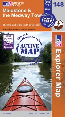Maidstone and the Medway Towns - OS Explorer Map Active Sheet  148 (Sheet map, folded)