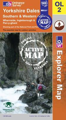Yorkshire Dales - Southern and Western Areas - OS Explorer Map Active Sheet OL02 (Sheet map, folded)