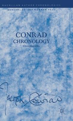 A Conrad Chronology - Author Chronologies Series (Hardback)