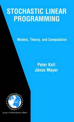 Stochastic Linear Programming: Models, Theory, and Computation - International Series in Operations Research & Management Science v. 80 (Hardback)