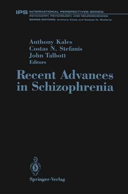 Recent Advances in Schizophrenia - Studienreihe Informatik (Paperback)