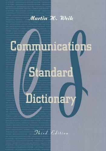 Communications Standard Dictionary (Hardback)