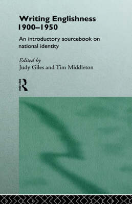 Writing Englishness: An Introductory Sourcebook (Hardback)