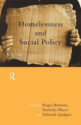 Homelessness and Social Policy (Paperback)
