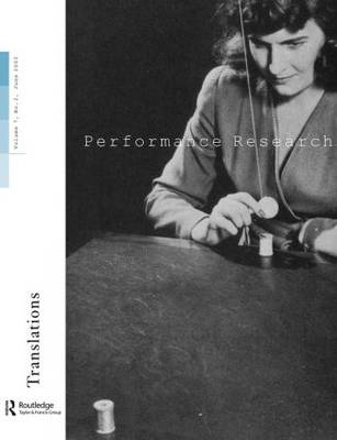 Performance Research: Volume 7 (Paperback)