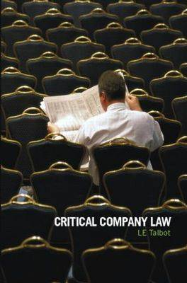 Critical Company Law (Paperback)