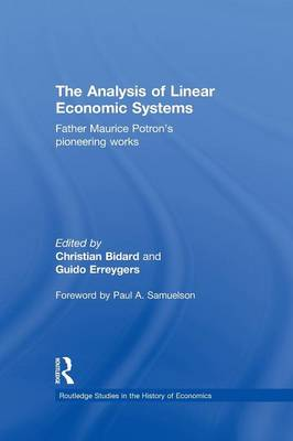 The Analysis of Linear Economic Systems: Father Maurice Potron's Pioneering Works (Paperback)