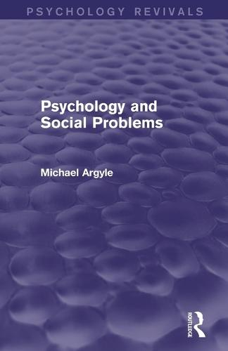 Psychology and Social Problems (Psychology Revivals) (Paperback)
