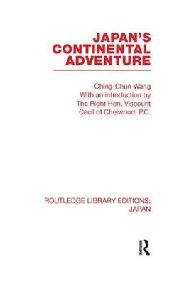 Japan's Continental Adventure - Routledge Library Editions: Japan (Paperback)