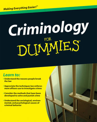 Criminology For Dummies (Paperback)