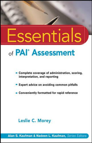 Essentials of PAI Assessment - Essentials of Psychological Assessment (Paperback)