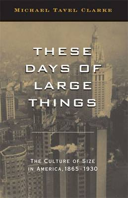 These Days of Large Things: The Culture of Size in America, 1865-1930 (Hardback)
