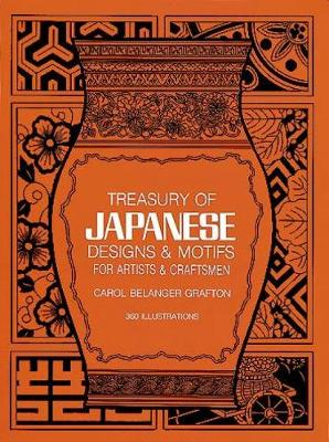 Treasury of Japanese Designs and Motifs for Artists and Craftsmen - Dover Pictorial Archive (Paperback)