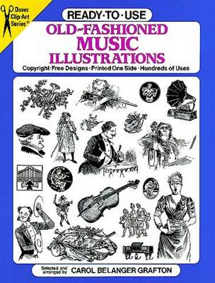 Old-Fashioned Music Illustrations - Dover Clip Art Ready-to-Use (Paperback)