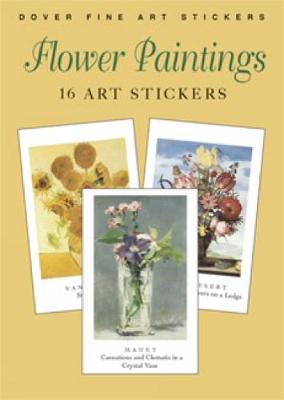 Flower Paintings: 16 Art Stickers - Dover Art Stickers (Paperback)
