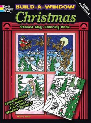 Build a Window Stained Glass Coloring Book Christmas - Build Window Stained Glass Coloring Book (Paperback)