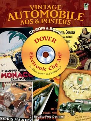 Vintage Automobile Ads & Posters - Dover Electronic Clip Art (Mixed media product)