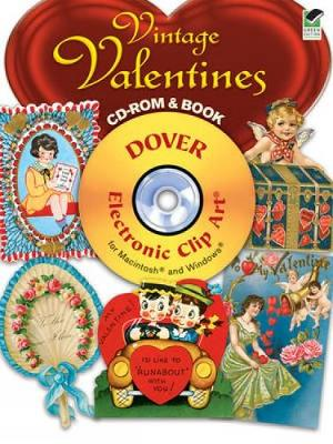 Vintage Valentines - Dover Electronic Clip Art (Mixed media product)