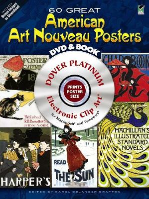 60 Great American Art Nouveau Posters - Dover Electronic Clip Art (Mixed media product)