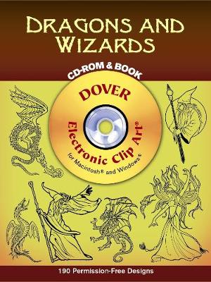 Dragons and Wizards - Dover Electronic Clip Art (Mixed media product)
